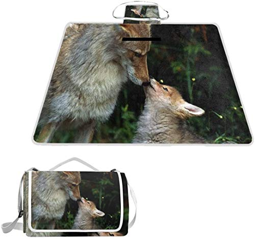 Manta picnic Love Baby Dogs Animals Wolf 57 x 79 pulgadas