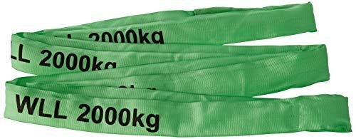 Braun 20041RS - Correa de recuperación para cabestrantes (poliéster, Resistencia: 2000 kg, 4 m), Color Verde