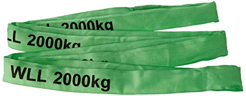 Braun 20041RS Rundschlinge 2000 kg Tragkraft, 4 m Umfang, endlos mit Polyesterkern, grün (1) (1)