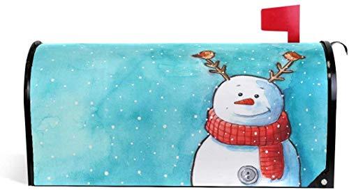 Mueco de nieve disfrazado de reno magntico 21 x 18 en cubierta de buzn de gran tamao para decoraciones de jardn y exteriores