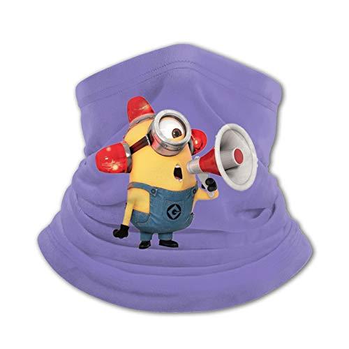Minion Shouting Horn Bufandas cálidas para niños Pañuelos para la Cabeza Sombreros multifuncionales para niños y niñas Toallas faciales elásticas Bufandas Lavables