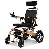 Silla de ruedas eléctrica Silla de ruedas eléctrica con multifuncional portátil inteligente automático, sillas de ruedas motorizadas plegables y transportables, silla eléctrica segura para viajes