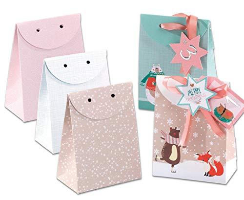folia Adventskalender Geschenktaschen Pastell