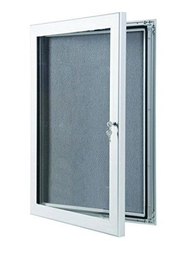 Exterior/Interior Premium Gris con tablón de anuncios con Sellado Impermeable y Superficie de Cuerpo, Color Gris A3