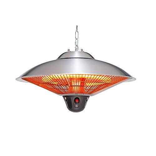 HHCP 1500W | Garden Point Calentador infrarrojo para Exteriores Venus Calefacción e iluminación en la terraza o el cenador | Elegante y Seguro | Negro Mate