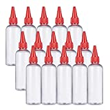 BENECREAT 15Pack 3.4 onzas Botella aplicadora de Punta Clara Botella plastica de...