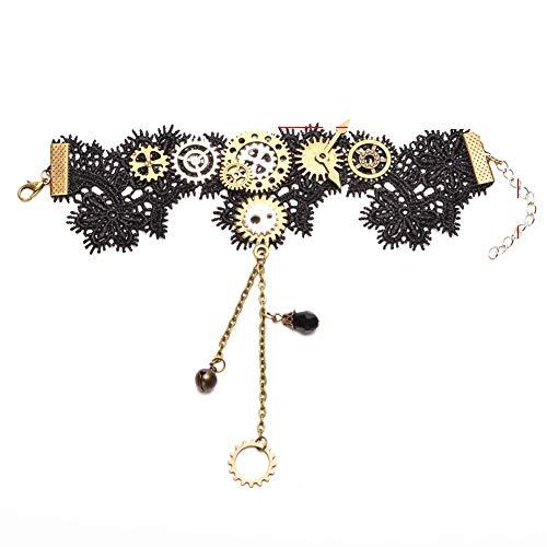 HiSummit Victoriaanse Meisjes Steampunk Armband Pols Cosplay Party Kant Armband Handschoen