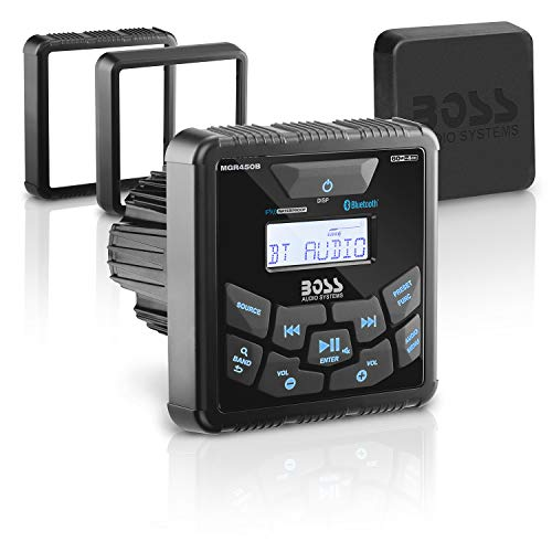 BOSS Audio Systems MGR450B Marine Gauge Receiver - Bluetooth, Digital Media MP3 Player, No CD Player, USB Port, AM/FM Radio, NOAA Weather Band Tuner, Weatherproof