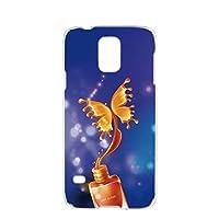 Galaxy S5 (SC-04F・SCL23) 対応 ハードケース スマホケース [ネイル・ブルー] カラフル 蝶 コスメ バタフライ SAMSUNG サムスン ギャラクシー エスファイブ docomo au スマホカバー 携帯ケース 携帯カバー [FFANY] butterflie_00k_h158@03