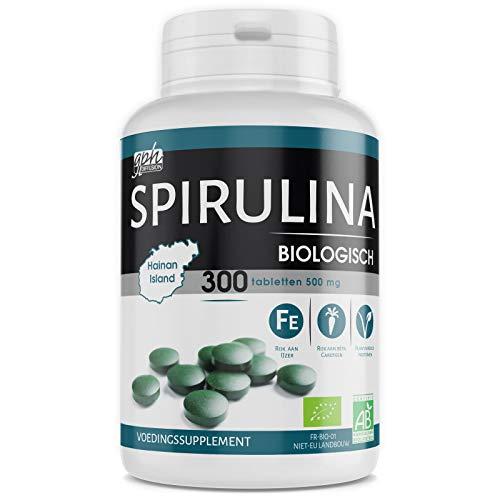 Biologische Spirulina - 500 mg - 300 tabletten - Superfood