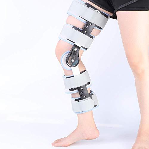 Kniebandage mit Scharnier, Post-Kniebandage für Erholungsstabilisierung, verstellbare medizinische orthopädische Unterstützung, Stabilisator, universeller Standard, mit DrLock-Funktion