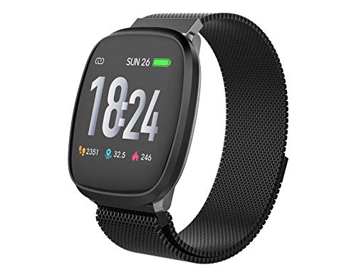 Trevi T-FIT 260 HB Smart Fitness Band Bracciale Cardio con GPS APP, Monitoraggio Sonno e Attività Fisica, Tecnologia PPG, Resistente all Acqua, Bluetooth, Batteria Ricaricabile, Nero