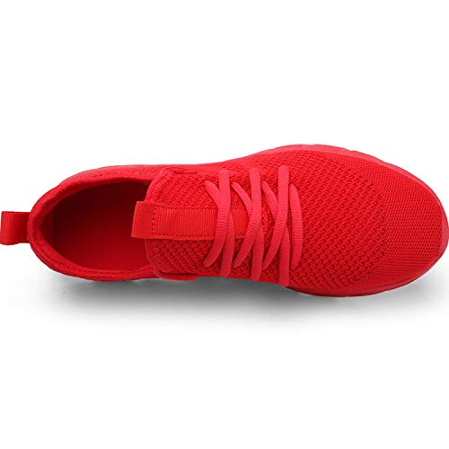 Zapatillas de Running para Hombre Casual Tenis Asfalto Zapatos Deporte Fitness Gym Correr Gimnasio Deportives Transpirables Seguridad Atlético Trekking Bambas Plataform Sneakers Rojo 43 EU