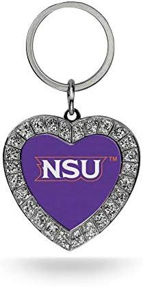 Rico Industries NCAA Fan Shop Metal Rhinestone Heart Keychain