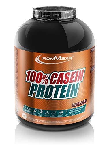 IronMaxx 100% Casein Protein-Pulver- 2000g - 80 Portionen - Schokolade - Caseinpulver für Eiweiß-Shake mit EAAs & BCAAs - Beliebt für Muskelaufbau, Muskelerhalt und Definition - Desgined in Germany