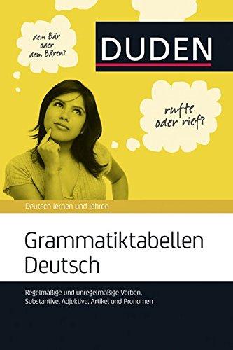 Duden Grammatiktabellen Deutsch (German Edition)