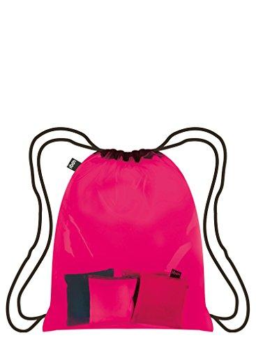 LOQI TRANSPARENT Rucksack, 10 Liter, Pink