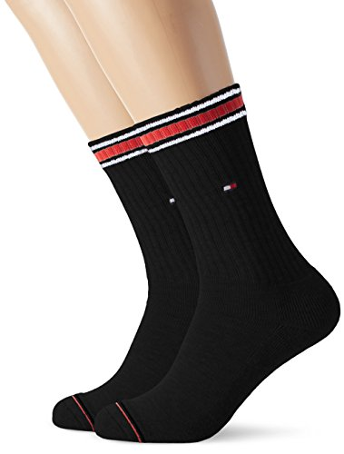 Tommy Hilfiger Herren TH MEN ICONIC SPORTS 2P Socken, Schwarz (black 200), 39/42 (2er Pack)