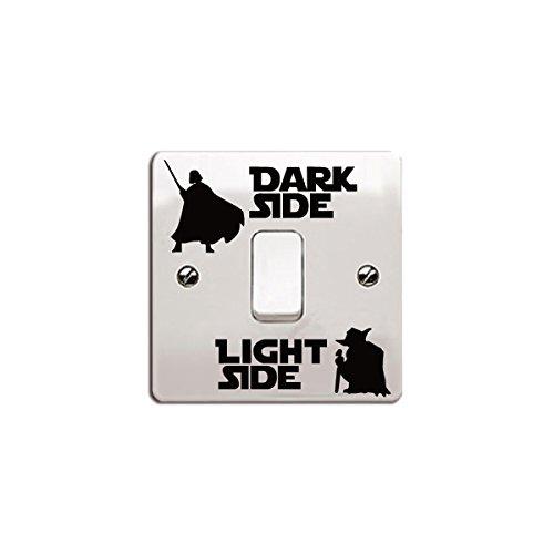 'Star Wars de vinilo etiqueta/Calcomanía 'Dark Side–Light Side para interruptor de luz negro Talla:Style 6