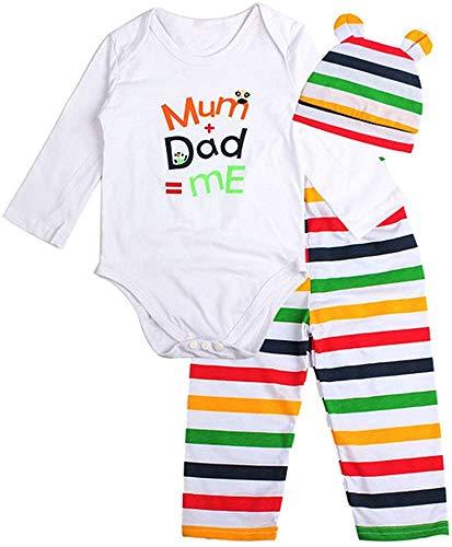 Jacket Conjunto de 3 piezas para bebé y niño niña con animales de 1 a 2 años (color: multicolor, tamaño: 18 a 24 meses)