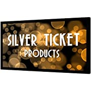 """Silver Ticket Products STR Series 6 Piece Home Theater Fixed Frame 4K / 8K Ultra HD, HDTV, HDR & Active 3D Movie Projection Screen, 16:9 Format, 92"""" Diagonal, Silver Material STR-16992-S"""