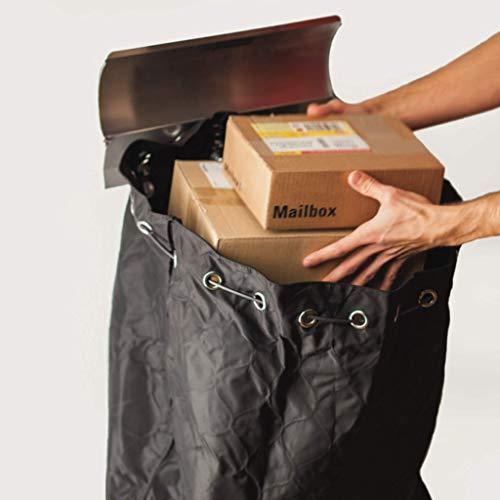 PAKETSAFE – platzsparender Paketsack mit hochwertiger Edestahloptik, anthrazit - 3