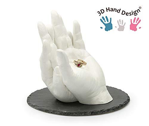 0-6 Monate, 2-3 Modelle Lucky Hands/® 3D Abformset mit Zubeh/ör Gipsabdruck Geschenkidee zum Muttertag Handabdruck