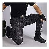 Uniforme Militar Pantalones tácticos de Combate de Multicam Hombres Pant Ropa Uniforme Militar Bottoms Ropa de la Caza Waistcoat (Color : Black Python, Size : L)