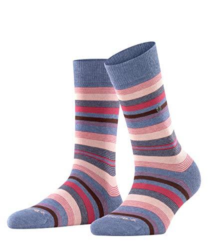 Burlington Damen Stripe Socken, blau (light jeans 6662), 36-41