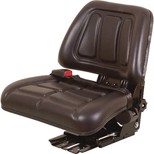 Sedile per trattore con sospensioni meccaniche, molleggio verticale completo di cintura di sicurezza