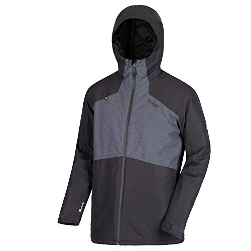 Regatta Garforth II Waterproof and Breathable Thermoguard Insulated Hooded Veste Homme, Ash Grey/Seal Grey, XXXL