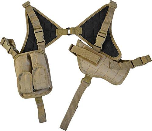 Schulterholster Pistolenholster mit Magazintaschen Cordura Farbe Coyote