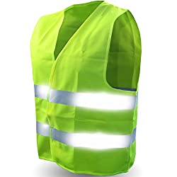small Safety reflective vest (ultra-high visibility bright neon yellow) Ideal for running and jogging.