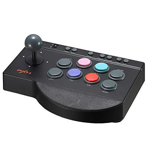 Spelconsoles bestrijden Arcade Game Joystick USB voor PC, PS3, 4; met kleine 8-weg joystick en 8 actieknoppen.