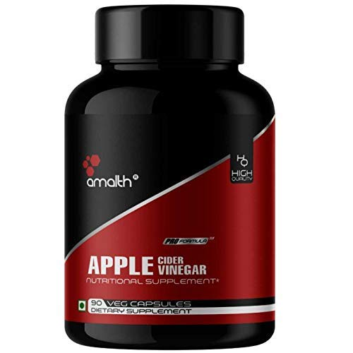 Amalth Apple Cider Vinegar 500mg – 90 Capsules Helps In Weight Loss, Antioxidant Support Immunity