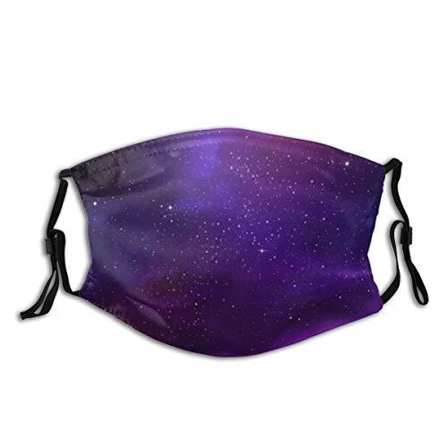 NANITHG Gesichtsbedeckung,Galaxy Nebula Illustration Deep Space Sternhaufen und Sternbild Milchstraße,Winddicht Staubschutz Mund Bandanas Outdoor Camping Motorrad Running Neck Gamasche Mit 2 Filtern