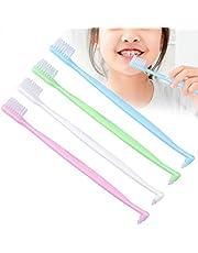 Cepillo de dientes de ortodoncia, 4 piezas Cepillo de dientes de ortodoncia Cepillo de dientes de espacio intermedio de doble punta para limpieza de dientes