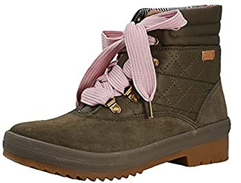 Keds Camp Boot Suede Quilted Nylon WX Bungee Cord Olive 8 B  M