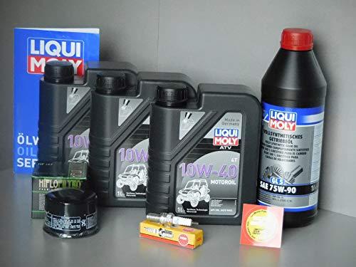 MotorFunSports  - Set de Mantenimiento para Quad y Quad Kymco UXV 450i (Filtro de Aceite, Aceite de Vela)