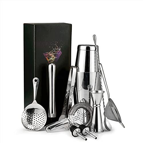 11 stks/set Barmender Kit met standaard roestvrijstalen cocktail shaker Home Bar Tools Set Boston Cocktail Shaker Bar…