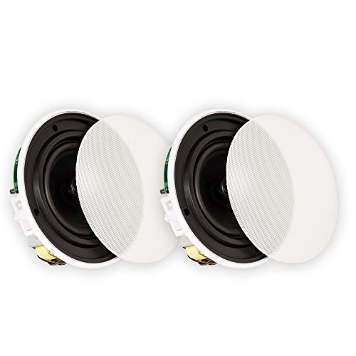 Affordable Theater Solutions TSQ670 In Ceiling 70 Volt 6.5 Speakers Quick Install Pair
