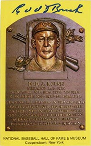 Signé Roush, EDD Hall of Fame Plaque voiturete postale Autographe