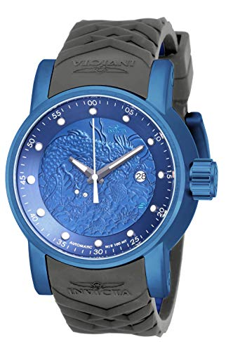 Invicta 18214 Men's S1 Rally Automatic Blue IP Steel Blue & Grey Silicone Strap Watch