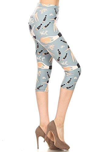 S507-CA-PLUS Mermaid Wish Capri Print Leggings