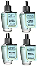 Bath and Body Works 4 Pack Endless Weekend Wallflowers Fragrance Refill. 0.8 fl oz.