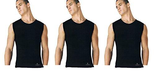 Navigare 3 Pezzi T-Shirt Maglia Smanicato 575 Scollo V (6/XL, Nero)