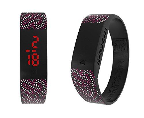 too 2 late Unisex Erwachsene Analog-Digital Uhr mit Silikon Armband LED Aboriginal S