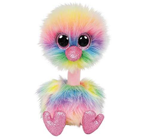 """LYH2019 Boos 10"""" 25Cm ASHA Pastel Ostrich Plush Medium Big-Eyed Stuffed Animal Collection Doll"""
