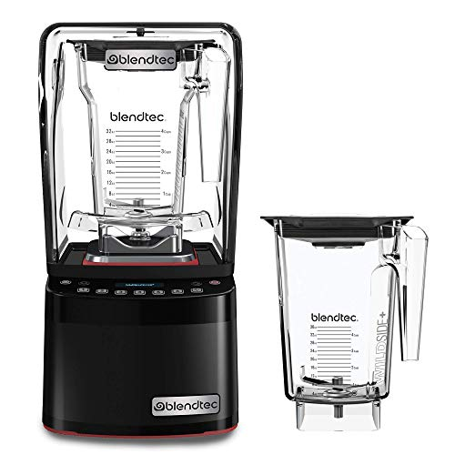 Blendtec Stealth 885 Commercial Blender, FourSide and WildSide+ Jar BUNDLE, Blendtec Q Series Sound Enclosure, Strongest Commercial-Grade Power, Self-Cleaning, 42 Pre-programmed Cycles, Black