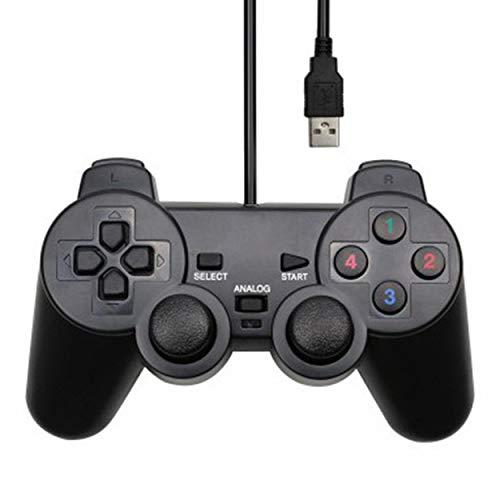 FYstar Gamepad-Controller für PC, Laptop, Joystick, USB, kabelgebunden, Schwarz